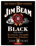 Jim Beam Black Label Placa de lata
