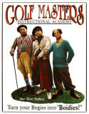 Los tres chiflados, maestros de golf Cartel de chapa