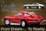 Chevrolet: Corvette Stingray, un sueño hecho realidad Cartel de chapa