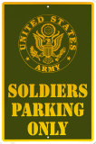 Army Parking Tin Sign