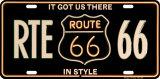RTE 66 License Plate Blikskilt