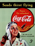 Coca- Cola Plakietka emaliowana