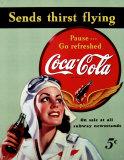 Coca Cola: botella de 1915 Cartel de chapa