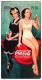 Coke 50th Bathers Emaille bord