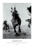 Seabiscuit Moves Ahead of War Admiral, 1938 Print