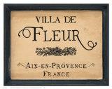 Villa de Fleur Posters