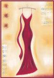Abito da sera rosso II Poster di Lucy Barnard