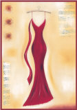 Red Evening Gown II Posters by Lucy Barnard