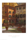 Siena Courtyard Poster by Greg Singley