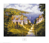 Path to Harbor Prints by Barbara Applegate
