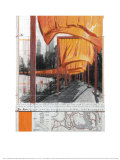 The Gates, Projet pour Central Park, X, New York City Affiches par Christo