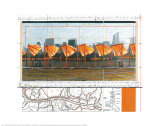The Gates, Project for Central Park, X, New York City Posters by Christo