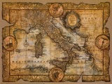 Map of Italy Prints by John Douglas