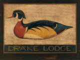 Drake Lodge Print by Warren Kimble