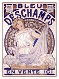 Bleu Deschampes Giclee Print by Alphonse Mucha