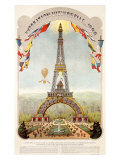 Universal Exposition Fair, Paris, c.1889 Reproduction procédé giclée