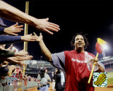 Manny Ramirez celebrating 2004 ALDS sweep of the Angels &#169;Photofile Photographie