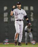 Derek Jeter - Celebrates Yankee victory Game 3, 2004 ALCS ©Photofile Photo