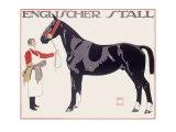Englischer Stall Horse Giclee Print