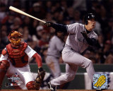 Hideki Matsui - Hits double in 3rd inning of game 3, 2004 ALCS ©Photofile Photo