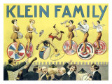 Klein Unicycle Family Circus Lámina giclée