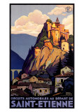 Saint Etienne Giclee Print by Roger Broders