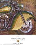 Vintage Motorcycle II Print by P. Moss