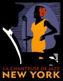 La Chanteuse de Jazz Plakat af Johanna Kriesel