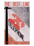 Best Line Telephone Company Giclee Print