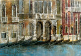Canal Facades Print by Michael Longo