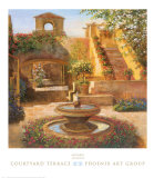 Courtyard Terrace Poster by Michael Longo