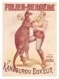 Folies Bergere, Boxing Kangaroo Reproduction procédé giclée