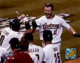Jeff Kent - After hitting game-winning HR, Game 5, 2004 NLCS ©Photofile Photo