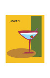Martini in Yellow Giclee Print by  ATOM