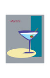 Martini in Grey Giclee Print by  ATOM