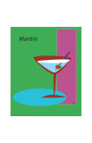 Martini in Green Giclee Print by  ATOM