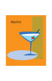 Martini in Orange Giclee Print by  ATOM