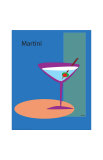 Martini in Blue Giclee Print by  ATOM