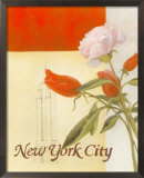 New York Floral Views Print by William Verner