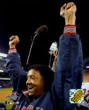 Pedro Martinez celebrating, Game 7 win - ALCS ©Photofile Photo