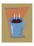 Cafe Americano Giclee Print by  ATOM