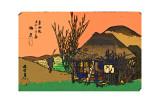 Mariko: a Roadside Tavern Giclee Print by  Hiroshige II