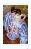 Kylpy Giclee-vedos tekijänä Mary Cassatt