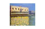 Palazzo ducale a Venezia Stampa giclée di Claude Monet