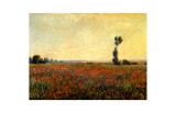 Poppy Landscape Giclee-trykk av Claude Monet