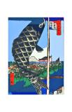 Carp Streamers at Suidobashi-Surugadai Giclee Print by Ando Hiroshige