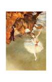 La estrella O Las bailarinas en el escenario Lámina giclée por Edgar Degas