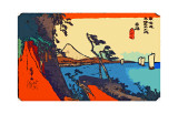 Yui: Path of Setta with Mount Fuji Giclee Print by Ando Hiroshige
