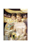 Two Woman at Theater Giclee Print by Mary Cassatt