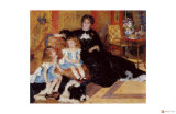 Madame Charpentier with Her Children Giclee Print by Pierre-Auguste Renoir